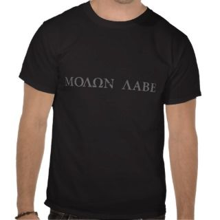 Molon Labe (Come and Take Them) Tee Shirt