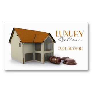 House with Gavel Business Card
