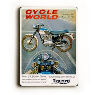 Cycle World 1967 Triumph Tiger Wood Sign