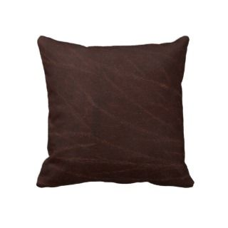 Dark Brown Leather Pillows