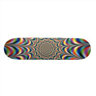 throbbing fractal optical illusion skateboard deck