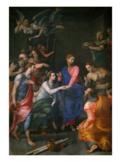 Christ, Raising of Jairus Daughter Giclee Print by Agnolo Bronzino