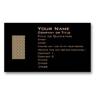 metal diamond plate business card by joyoflife metal business card