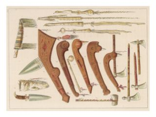 Sioux Weapons, Including Knives, Axes and Tomahawks Giclee Print