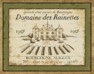 French Wine Labels III Print by Daphne Brissonnet