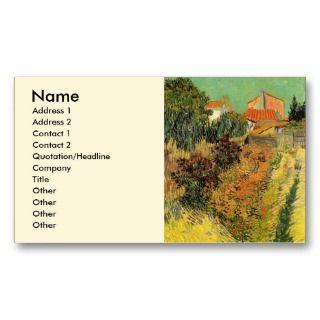 Van Gogh; Garden Behind a House, Vintage Farm Business Cards