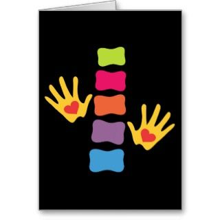 Chiropractic Hands and Spine Blank Card cards by chiropracticbydesign