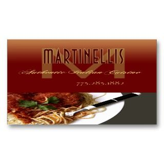Restaurant Catering Eateries Cuisine Business Cards