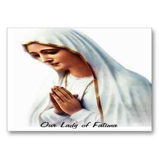 Lady of Fatima PrayerCard 001 Business Card Templates