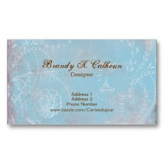 Vintage French Blue Toile Business Card Plain Back