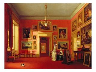 Lord Northwicks Picture Gallery at Thirlestaine House, C.1846 47 (Oil on Canvas) Giclee Print by Robert Huskisson