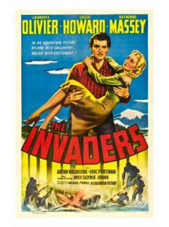 The Invaders (Aka 49th Parallel), Laurence Olivier, Glynis Johns, 1941 Premium Poster
