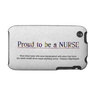 Proud to be a Nurse with Quote iPhone 3 Case