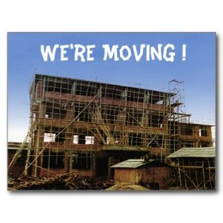 Moving Change of Address Funny House Building Postcards