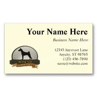 Basenji Business Card Template