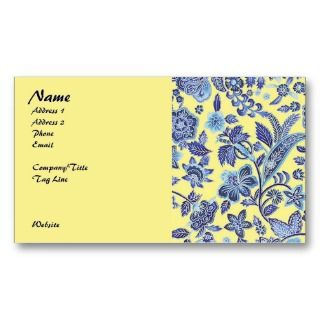 French Country Flowers, Pastel Business Card Template