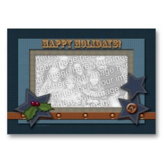 ACEO Christmas Photo Card Western Style Business Card