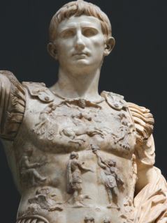 Augustus (61 Bc 14 Ad). First Roman Emperor, Marble Statue of Augustus of Prima Porta (1st Century) Photographic Print by Prisma Archivo