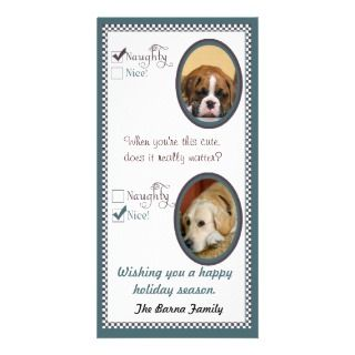 Two dog Christmas Card template Personalized Photo Card