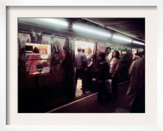 1970s America, Graffiti on a Subway Car on the Lexington Avenue Line. New York City, New York, 1972 Pre made Frame