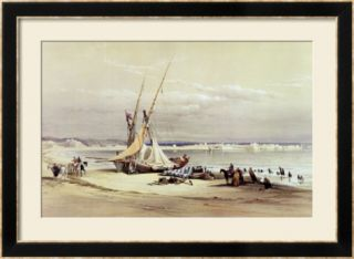 Tsur, Ancient Tyre, April 27th 1839, Plate 69 from Volume II of The Holy Land Framed Giclee Print
