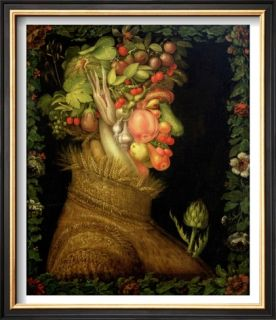 Summer, 1573 Pre made Frame by Giuseppe Arcimboldo