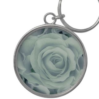 Soft Green Roses + Satin Bouquet, template Key Chains