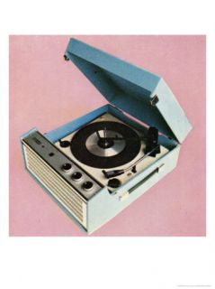 1960s Portable Record Player Print