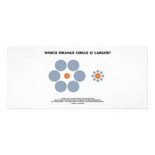 Which Orange Circle Is Larger? (Optical Illusion) Rack Card Template