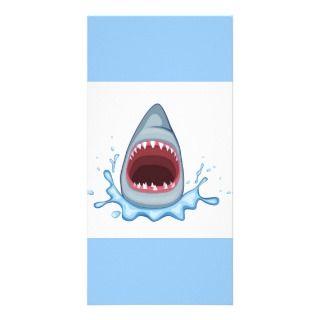 vectorstock_383155 Cartoon Shark Teeth hungry Personalized Photo Card