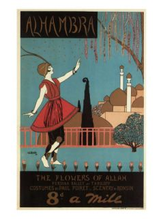 Alhambra, the Flowers of Allah, c.1913 Giclee Print by Georges Kugelmann Benda