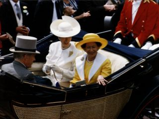 Princess Margaret and Princess Anne at Royal Ascot in 1992 Horseracing Photographic Print