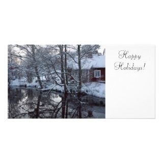 Christmas Photo Cards, Winter Scene Christmas Photo Card Templates