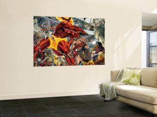 Thor #85 Group Surtur and Beta Ray Bill Laminated Oversized Art by Andrea Di Vito