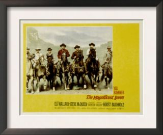 The Magnificent Seven, with Steve McQueen, James Coburn, Yul Brynner, and Charles Bronson, 1960 Pre made Frame