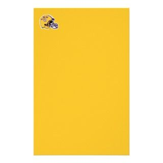 LSU Football Helmet Right Side Stationery Paper