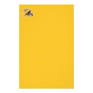 LSU Football Helmet Right Side Stationery Paper