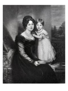Queen Victoria as an Infant with Her Mother the Duchess of Kent, C.1822 Giclee Print by English School