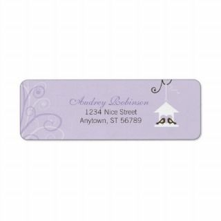 Bird House Wedding Return Address Label