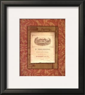 Vintage French Wine Label II Pre made Frame