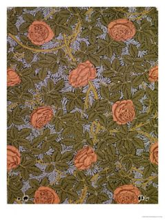Rose   93 Wallpaper Design Giclee Print by William Morris