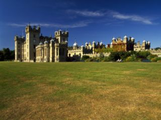 Lawn in Front of a Castle, Floors Castle, Kelso, Scotland Photographic Print