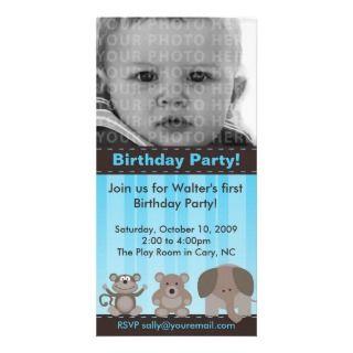 Tarjeta de la foto de la fiesta de cumpleaños tarjeta fotográfica de