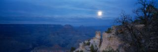 Rock Formations at Night, Yaki Point, Grand Canyon National Park, Arizona, USA Wall Decal by Panoramic Images