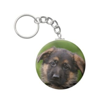 German Shepherd Puppy Keychains