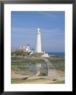 Lighthouse, St. Marys Island, Whitley Bay, Northumbria (Northumberland), England Pre made Frame