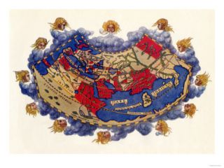 Ptolemys World Map, c.150 AD Giclee Print