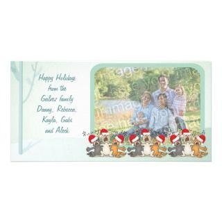 Happy Holidays Christmas Scene Photo Card
