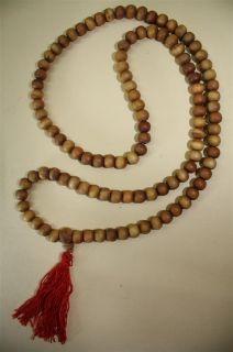 XL  SANDELHOLZ Mala,Gebetskette Indien Buddhismus 90cm