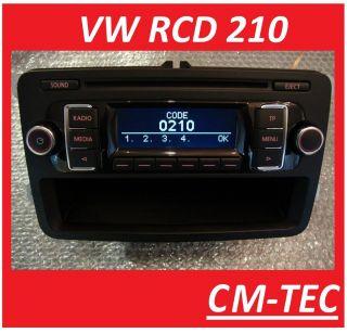 VW RCD 210 Radio CD  RCD210 2011/12 Golf 6, Polo,Caddy,T5